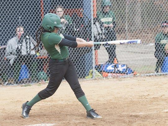 Schalick's Sierra Flores follows through on a swing