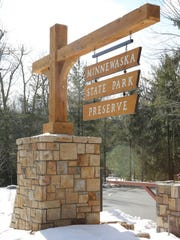 The entrance to the Minnewaska State Park Preserve,