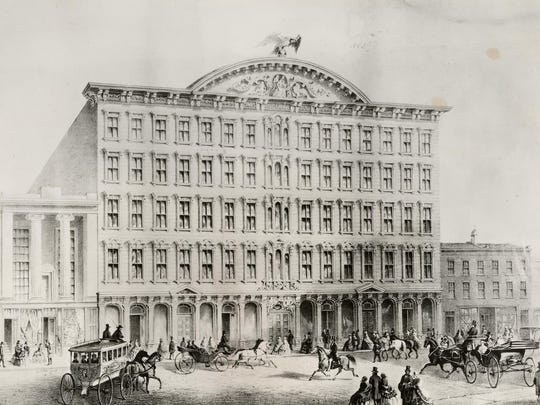 Pike's Opera House, built in 1859, was a world-famous and popular theater during the Civil War until it was destroyed in a fire caused by a gas leak on March 22, 1866. The fire also destroyed the Enquirer offices next door.