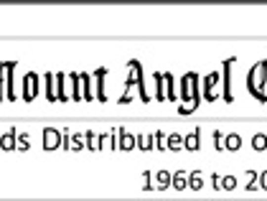Funds distributed annually by Mt. Angel Oktoberfest