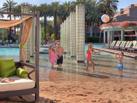 The Sand Beach at the Hyatt Regency Scottsdale Resort and Spa at Gainey Ranch.