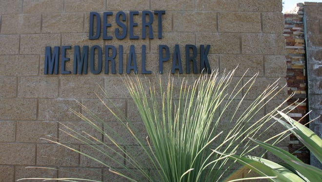 Cathedral City police are searching for men who fired at a family visiting a gravesite Desert Memorial Park in Cathedral City, seen in a 2012 file photo.