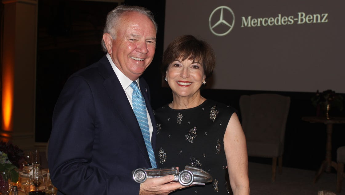 Autonation ceo mike jackson honored by mercedes benz for Mercedes benz ceo