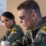 "Ethan Hawke and January Jones in a scene from the motion picture ""Good Kill."" CREDIT: Lorey Sebastian, IFC Films [Via MerlinFTP Drop]"