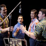 """The national tour of """"Jersey Boys"""" opens Oct. 27 at Greenville's Peace Center for eight performances through Nov. 1. Pictured are, from left, Keith Hines, Aaron De Jesus, Drew Seeley and Matthew Dailey."""