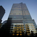 File photo taken in 2015 shows investment banking giant Goldman Sachs' New York City headquarters in Manhattan.