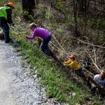 Photos: Volunteers clean up state game area