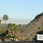 California Highway Patrol officers enter Thunderbird Heights on Friday, June 13, 2014 in Rancho Mirage, Calif.