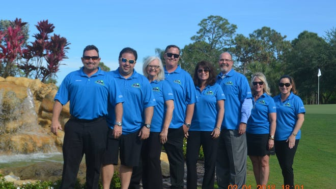 JRC Charitable Foundation golf tournament committee members are, from left, John Carr, Gibran Sanchez, Debora Fiske, Jon Sands, Janice Brunson, Bill West, Robi Jurney, and Michelle Martin-Carr.  Not pictured: Christina Hunter and Pete Lashenka.