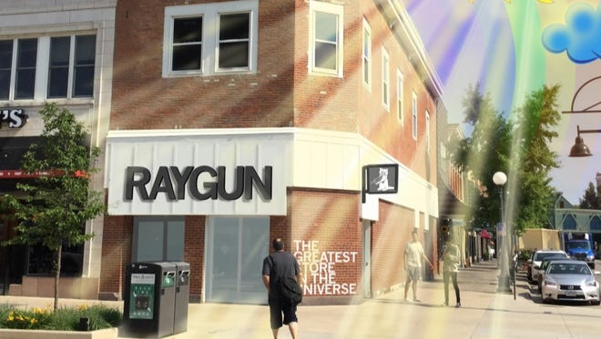 An artist rendering of the new Raygun store in Iowa City. Image provided by Raygun.