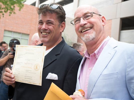 PNI gay marriage plaintiff