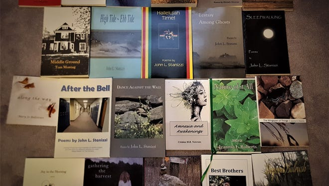 Wales poet Jim Landwehr is working to collect poetry books for the community.