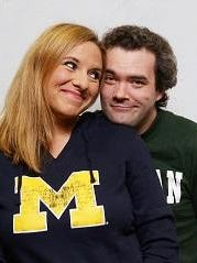 Shannon Bowen and Joseph Dickson in Riverwalk's 'The Home Team.'