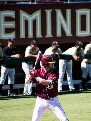 Dylan Busby (28) went 2-for-5 with two RBI's and a run scored on Saturday afternoon.
