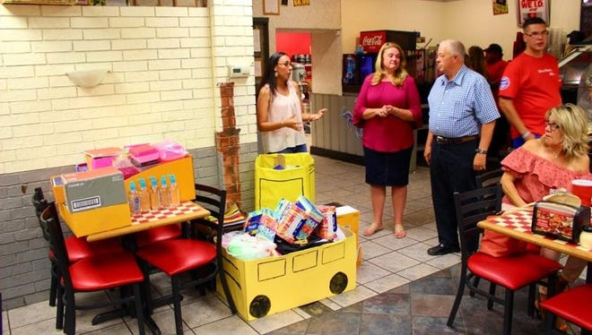 Carlsbad Lowe's worked with the Carlsbad Transitional Housing and Homeless Shelter to provide various back-to-school supplies.