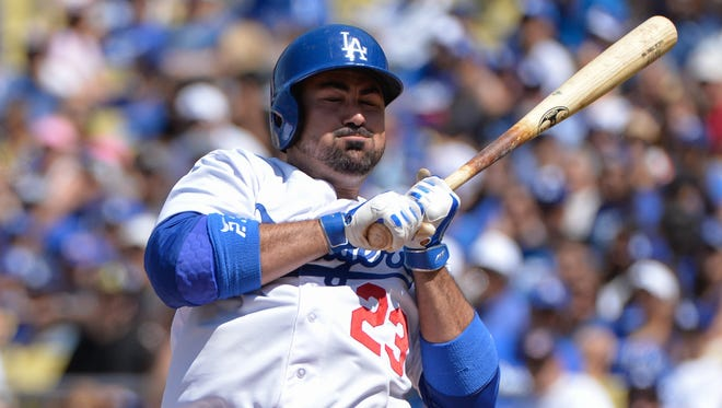 """Even though we've played so bad,"" first baseman Adrian Gonzalez notes, ""we're over .500."""