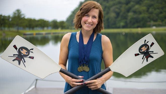 "Nealon used ""ninja oars"" borrowed from coach Lisa Lounsbery for her race."