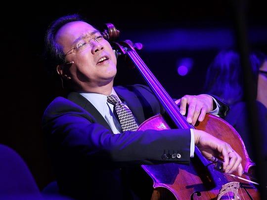 Yo-Yo Ma will perform on Nov. 18 at the Palladium.