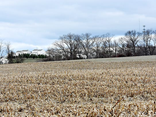Land owned by Southern York County developer Phil Robinson,