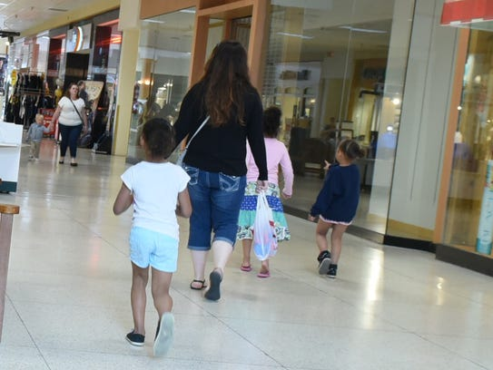 Parents and children were among the Chambersburg Mall's
