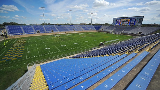 Coughlin-Alumni Stadium will feature a 30x100-foot video board at the south end of the stadium.