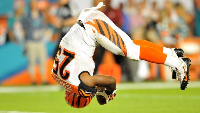 Gio Bernard has run for four touchdowns in nine games as a rookie,
