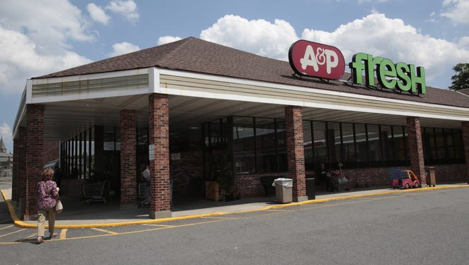 The A&P Supermarket in Rye Brook on July 20, 2015.  The company has filed for bankruptcy that will affect 25 of their stores.