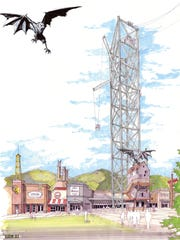 A concept drawing shows the old Belz Mall in Pigeon
