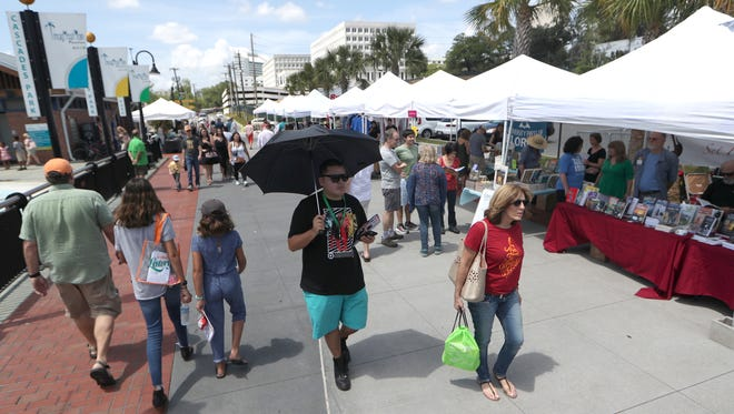 An afternoon at the Word of South Festival at Cascades Park downtown Saturday, April 14, 2018.