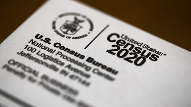 FILE - In this March 19, 2020, file photo, is an envelope containing a 2020 census letter mailed to a U.S. resident. A complete count of Montana's households could come with a big reward: a second seat in Congress and millions of federal dollars annually. But the 2020 census deadline remains in flux, making it uncertain if census takers will finish counting the vast, rural state.