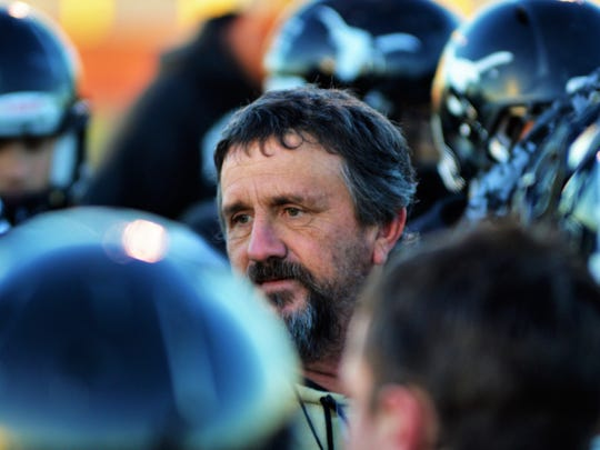 Big Spring coach Mitch McLemore conducts practice on Wed., Oct. 25 in Big Spring.