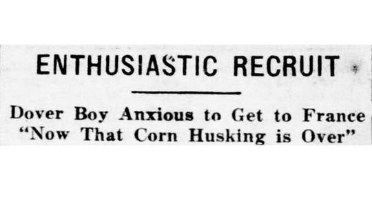 Headline in the November 20, 1917 York Daily.