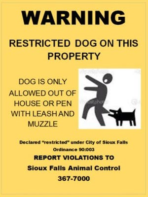 """Beware of Dog"" signs required for vicious animals could be getting a face lift under a new proposal."