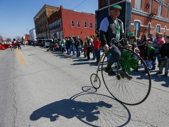 Scenes from the St. Patrick's Day Parade on Saturday,