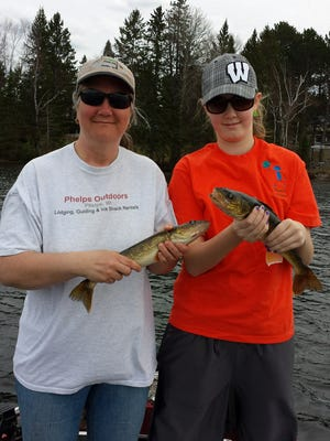 A couple of nice sized walleyes in Eagle River