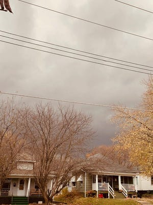 The clouds were ominous, Tuesday afternoon.