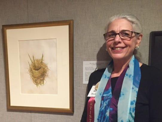 "Wendy Brockman's painting, ""Season's End,"" is her sixth"