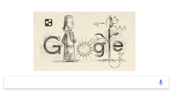 Photosynthesis Jan Ingenhousz >> Jan Ingenhousz: Google Doodle honors father of photosynthesis