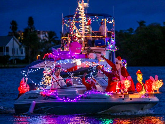 Fort Myers Beach hosts one of the earliest parades of the season, setting sail the first Saturday in December.
