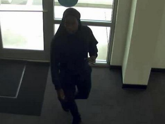 One of three suspects wanted in a string of thefts Saturday.