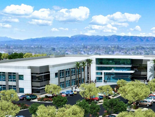 Rendering of Waypoint office campus in Mesa