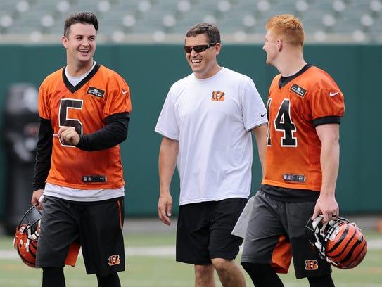 Cincinnati Bengals quarterbacks coach Bill Lazor  is