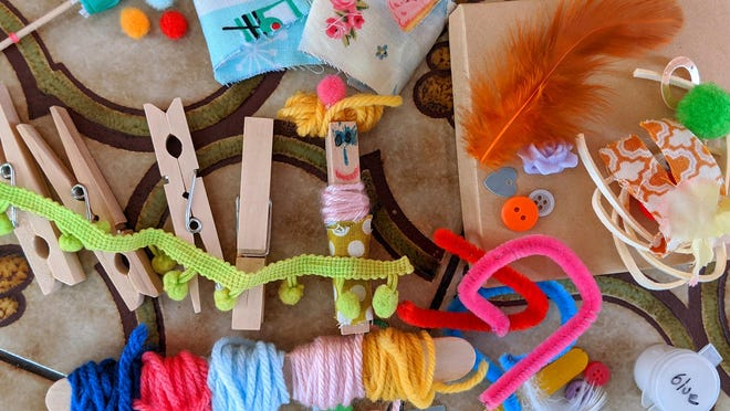 """Creative children's book """"Wanda the Worry Doll"""" teaches children that it's OK to worry. The book is free to download online. Families can make their own worry dolls with a clothespin and other household items."""
