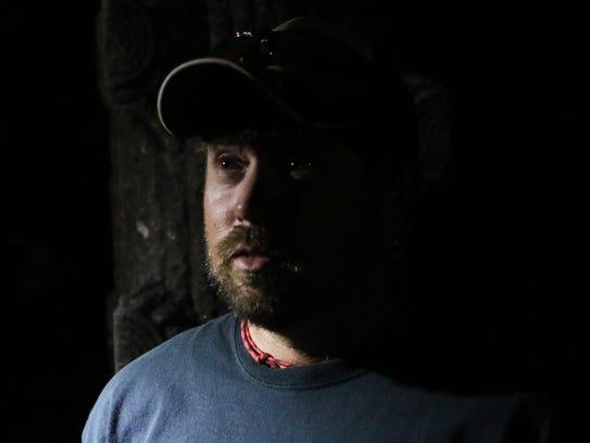 Chris Gibson, a member of N.E. Louisiana Paranormal