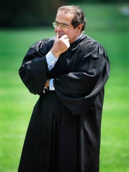 Justice Antonin Scalia  during a White House ceremony