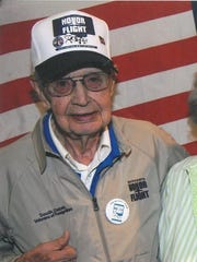 Sylvan Vigness before he went on the last Honor Flight from South Dakota.