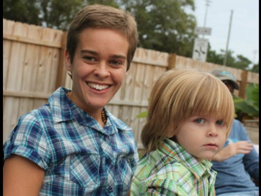 Lacey Spears and her son, Garnett Spears.