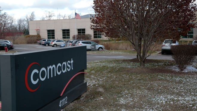 The Comcast headquarters in Plymouth is seen on Tuesday November 18, 2014.