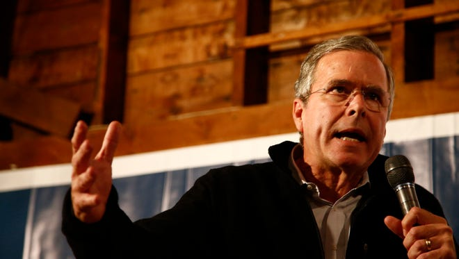 Former Florida Gov. Jeb Bush speaks in Rye, N.H., on Nov. 3. Bush is trying to catch up to Republican front-runners Donald Trump and Ben Carson in the polls. Sen. John McCain, the 2008 GOP nominee, said the New Hampshire primary is crucial.