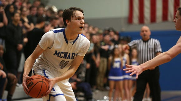 McNary senior Harry Cavell (4) is the Greater Valley